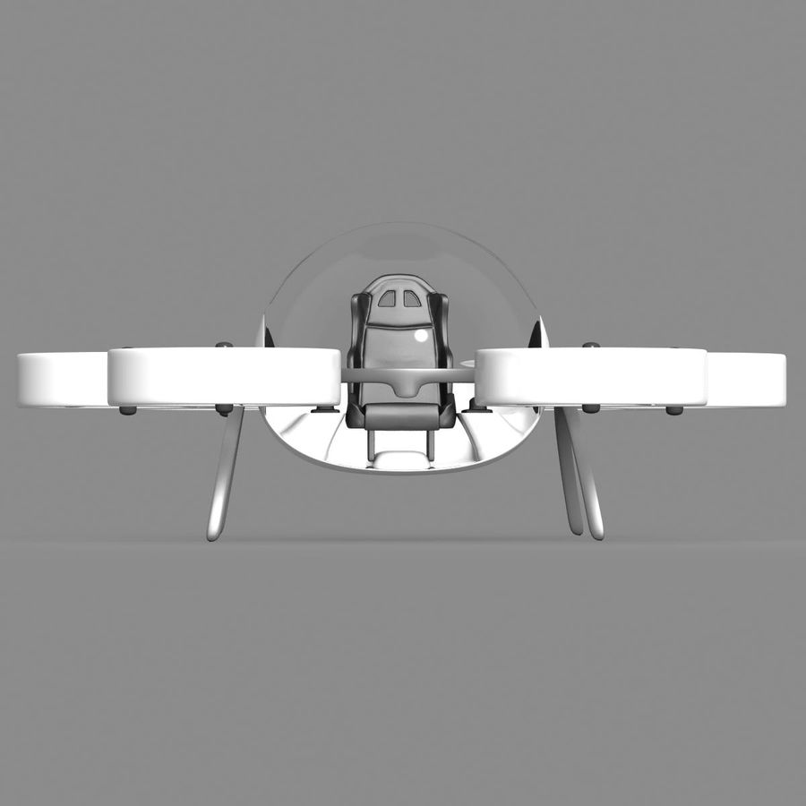 Personal Drone royalty-free 3d model - Preview no. 2
