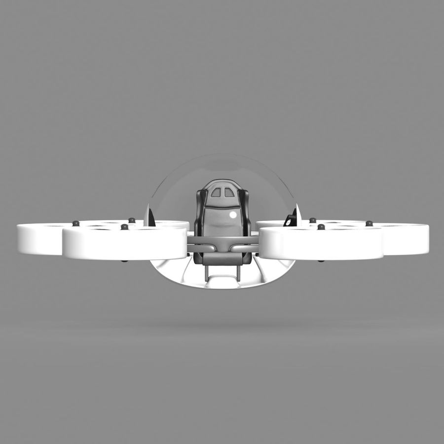 Personal Drone royalty-free 3d model - Preview no. 8