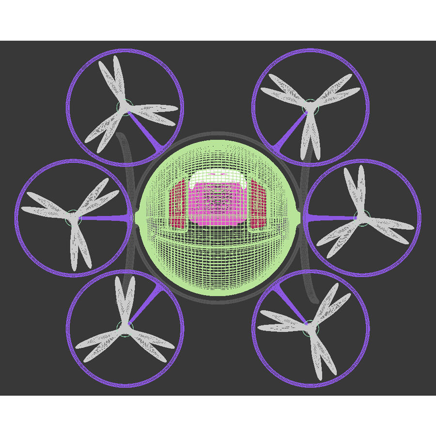 Personal Drone royalty-free 3d model - Preview no. 11