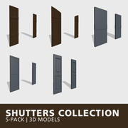 Shutters Collection 3d model