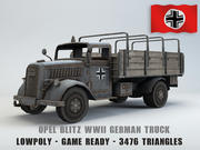 欧宝闪电战卡车Lowpoly 3d model