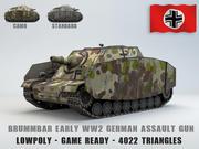 Sturmpanzer Brummbar Erken 3d model