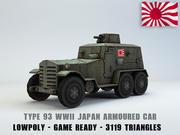 Typ 93 Kokusan Armored Car lågpolyy 3d model