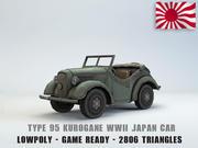 95型Kurogane汽车低聚 3d model