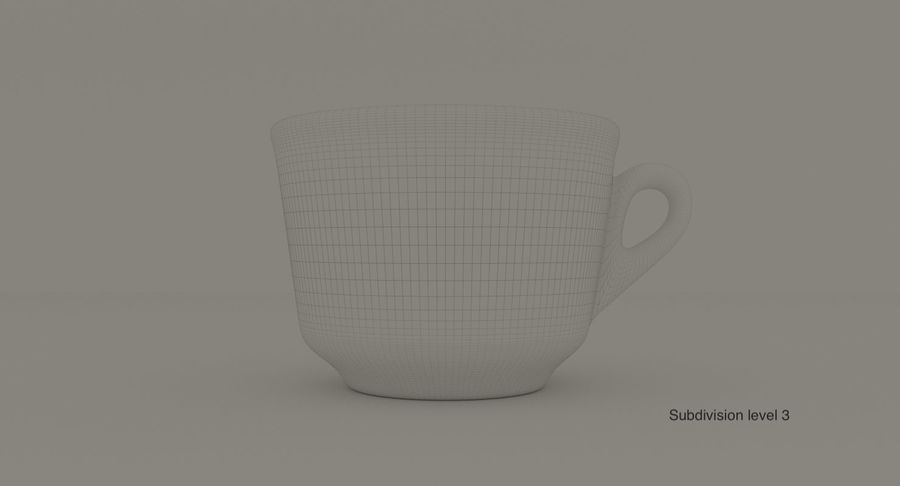 Ceramic cup royalty-free 3d model - Preview no. 11