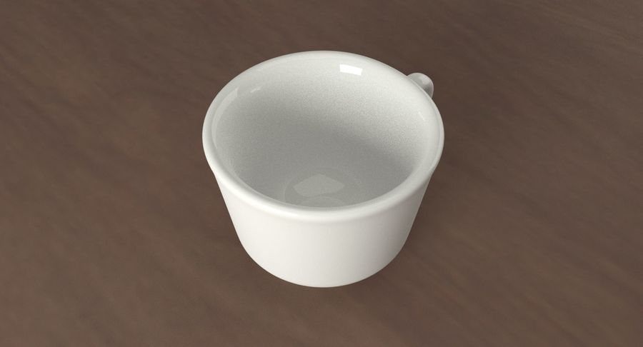 Ceramic cup royalty-free 3d model - Preview no. 5