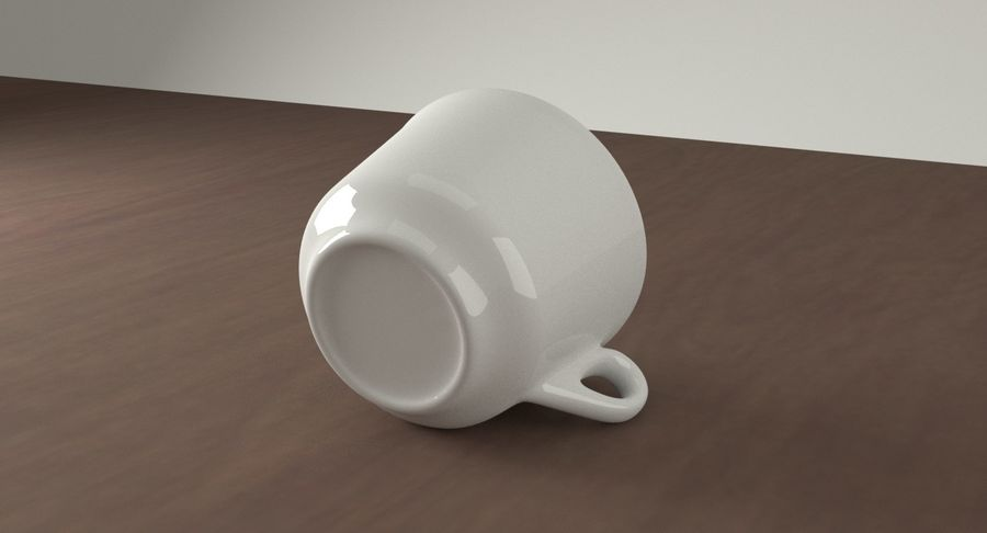 Ceramic cup royalty-free 3d model - Preview no. 9