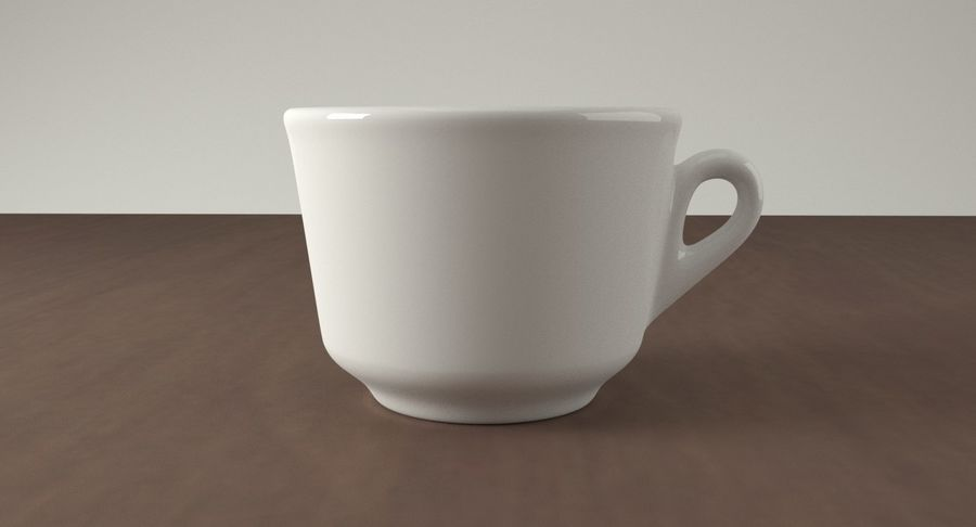 Ceramic cup royalty-free 3d model - Preview no. 3