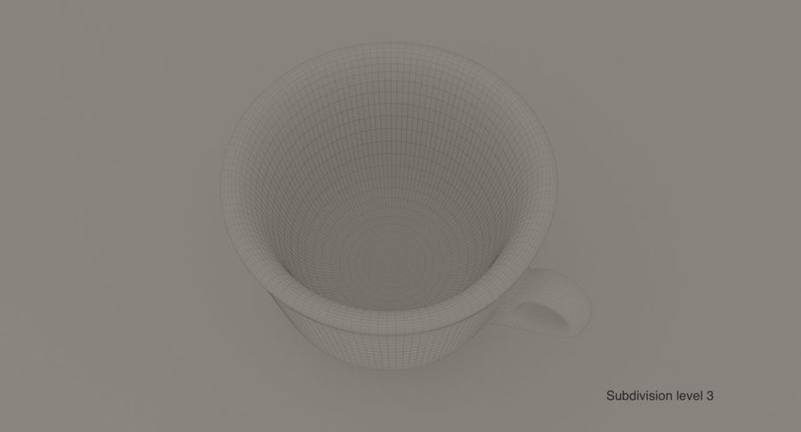Ceramic cup royalty-free 3d model - Preview no. 12