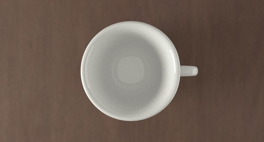 Ceramic cup royalty-free 3d model - Preview no. 6