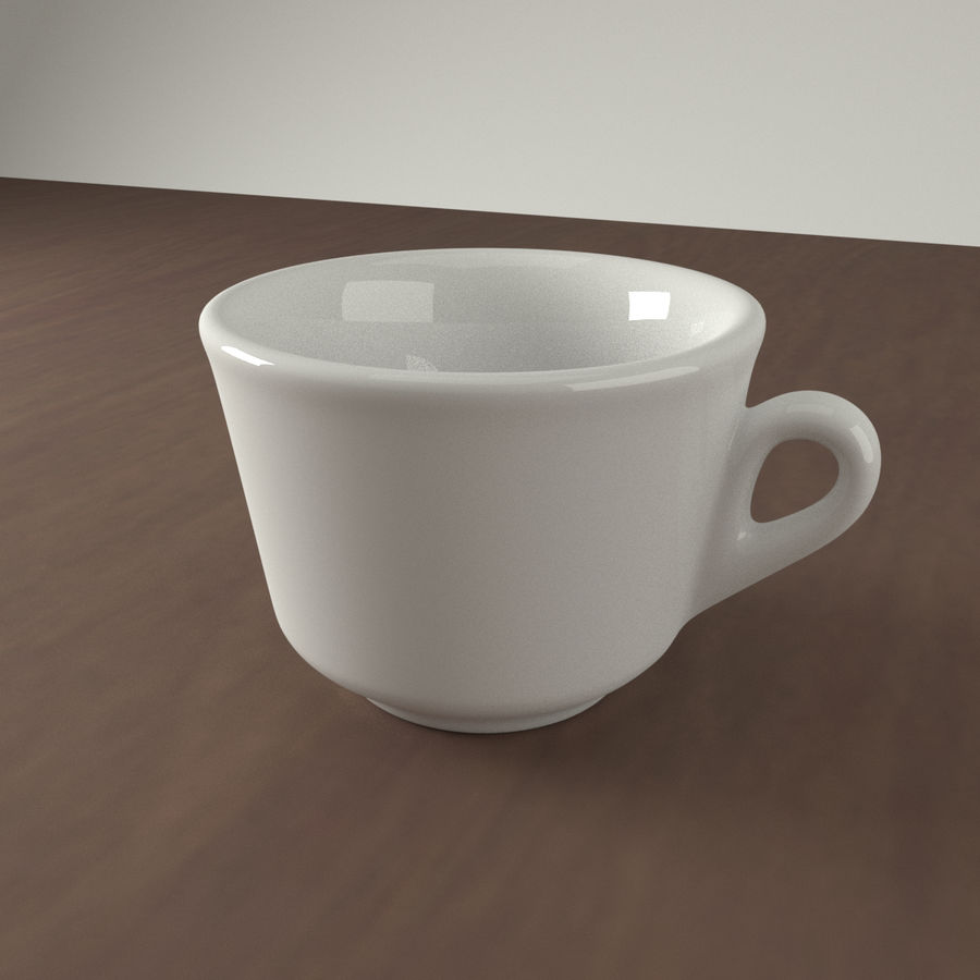 Ceramic cup royalty-free 3d model - Preview no. 1