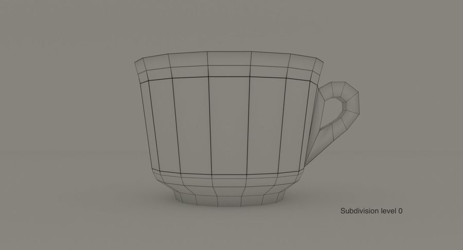 Ceramic cup royalty-free 3d model - Preview no. 13