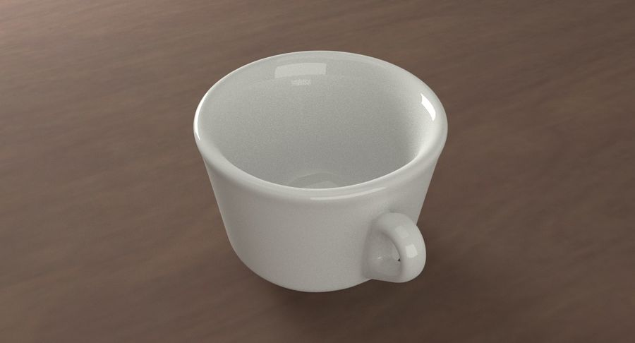 Ceramic cup royalty-free 3d model - Preview no. 4