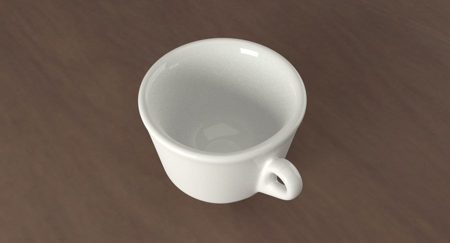 Ceramic cup royalty-free 3d model - Preview no. 8