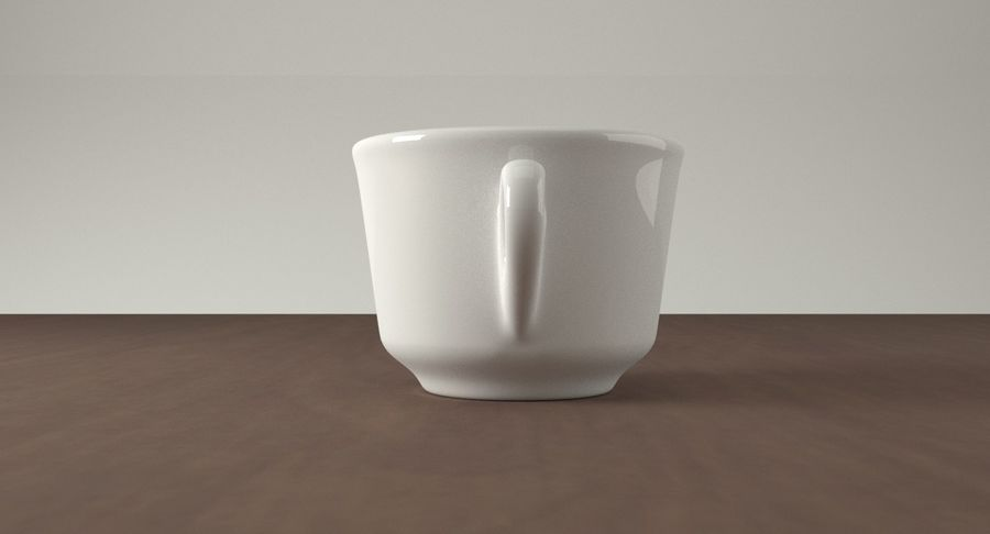 Ceramic cup royalty-free 3d model - Preview no. 7