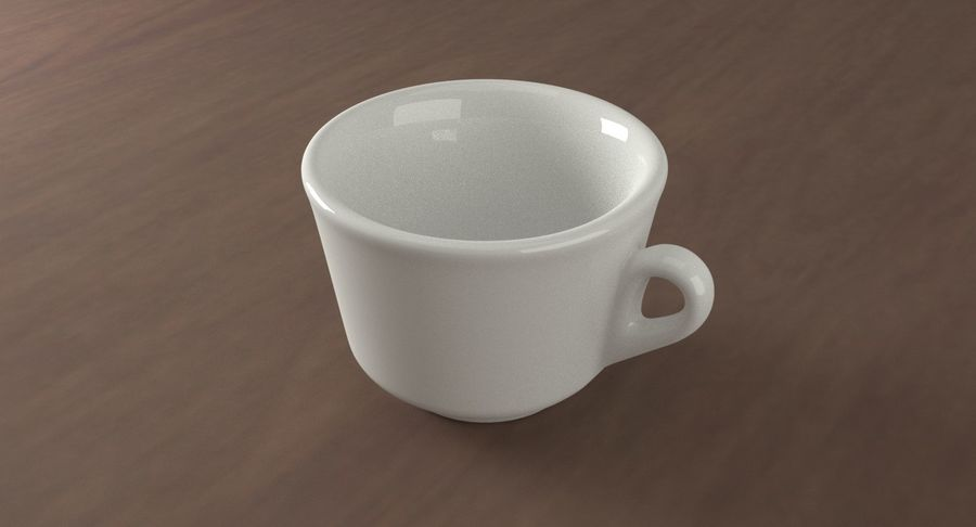 Ceramic cup royalty-free 3d model - Preview no. 2