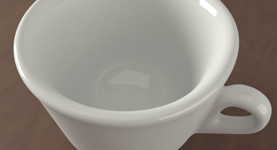 Ceramic cup royalty-free 3d model - Preview no. 10