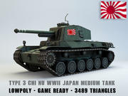 Type 3 Chi Nu medium tank 3d model