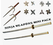 Weapon mini pack 3d model