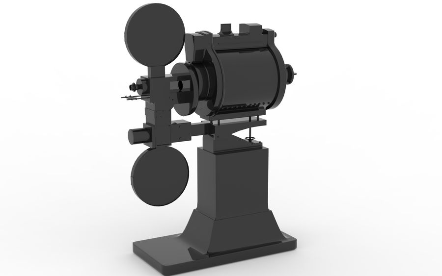 projector royalty-free 3d model - Preview no. 6
