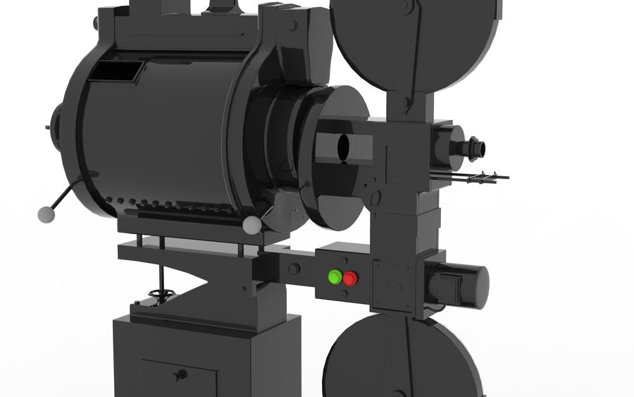 projector royalty-free 3d model - Preview no. 7