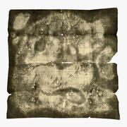 Yıpranmış hazine haritası 3d model