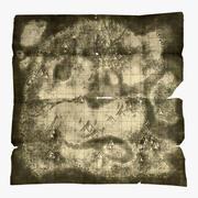 Treasure Map, worn 3d model