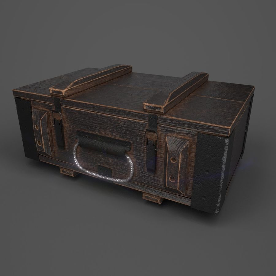 Reinforced Wooden Crate royalty-free 3d model - Preview no. 1