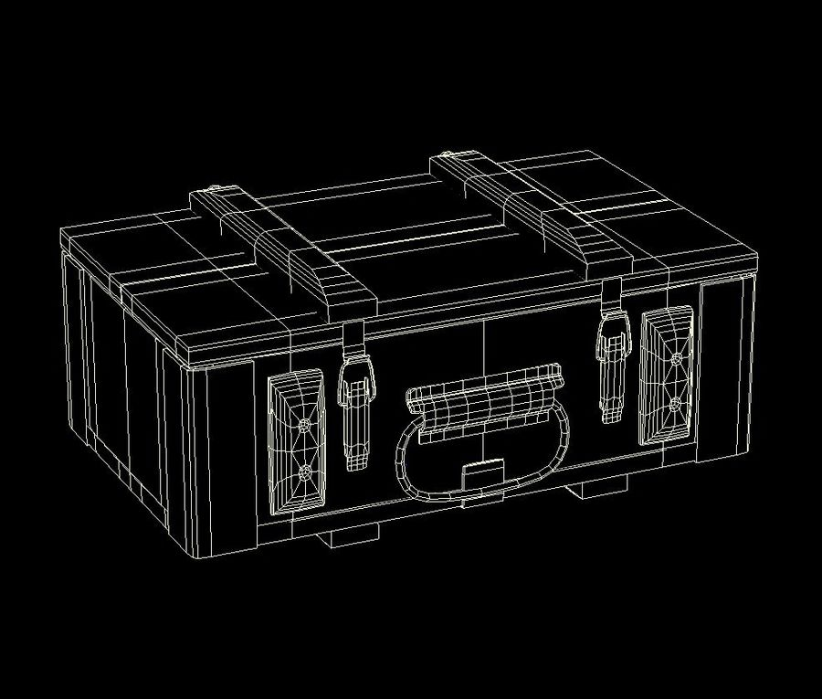 Reinforced Wooden Crate royalty-free 3d model - Preview no. 9