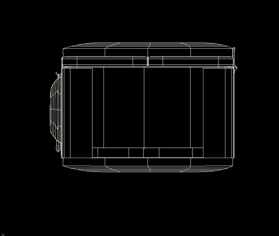 Reinforced Wooden Crate royalty-free 3d model - Preview no. 13