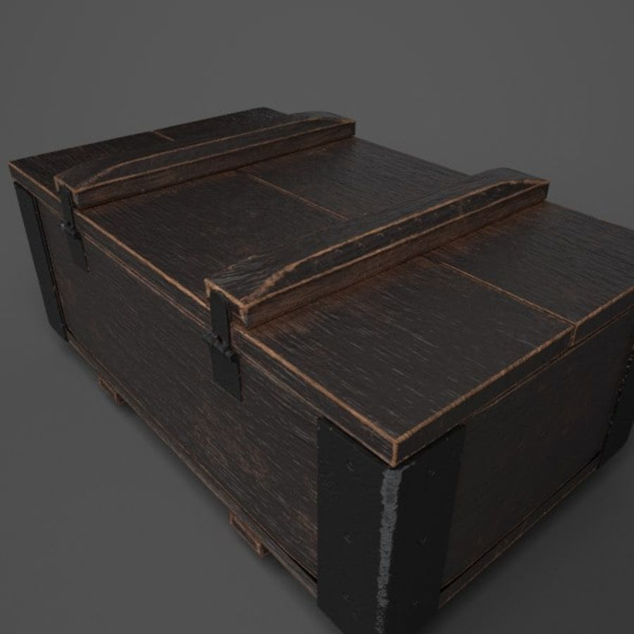 Reinforced Wooden Crate royalty-free 3d model - Preview no. 6