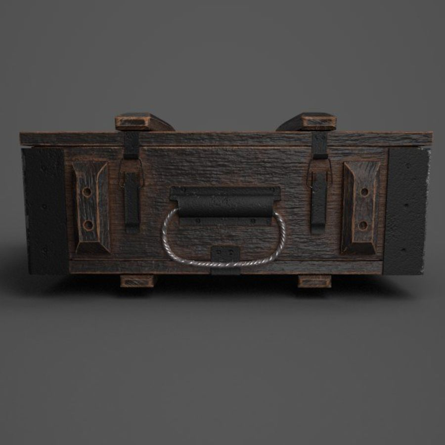Reinforced Wooden Crate royalty-free 3d model - Preview no. 2