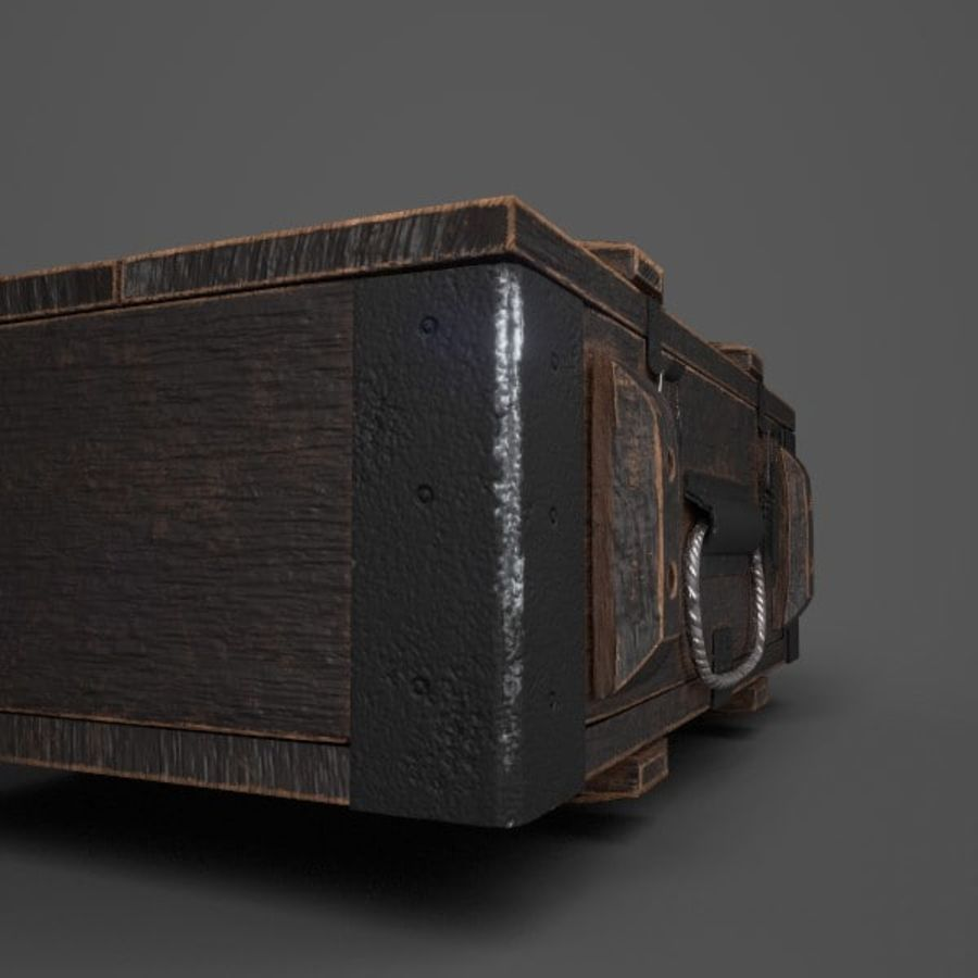 Reinforced Wooden Crate royalty-free 3d model - Preview no. 3