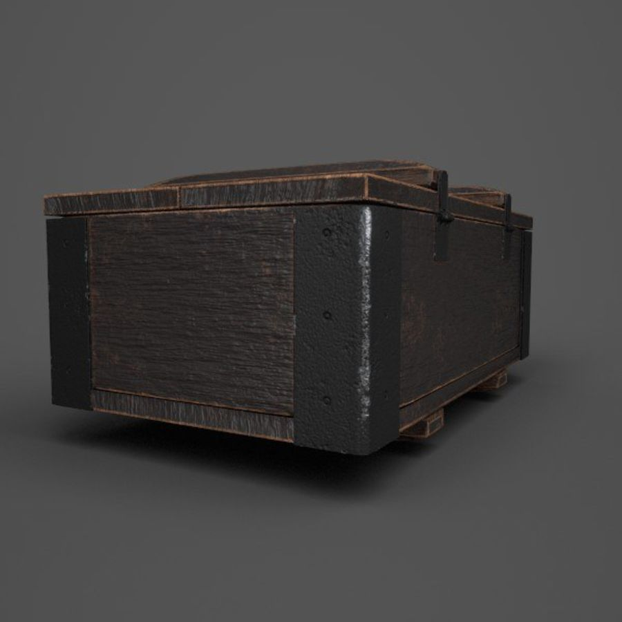 Reinforced Wooden Crate royalty-free 3d model - Preview no. 4