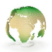 等尺性の世界地図 3d model