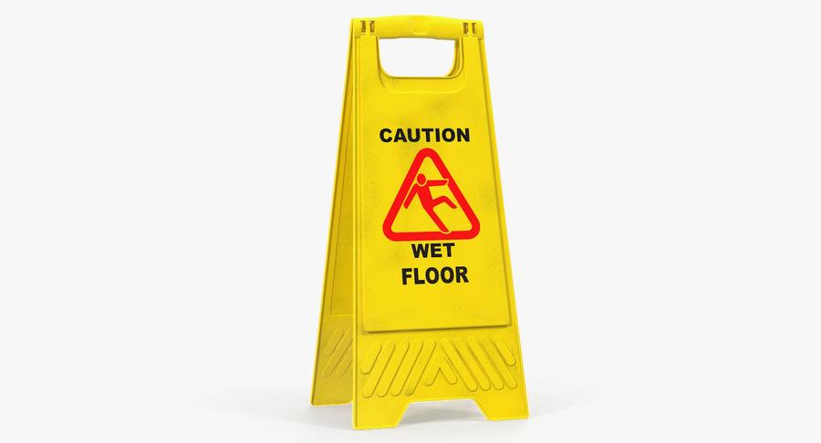 Sinal de piso molhado cuidado royalty-free 3d model - Preview no. 2