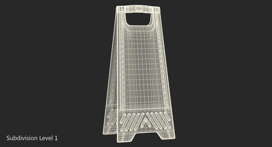 Sinal de piso molhado cuidado royalty-free 3d model - Preview no. 8