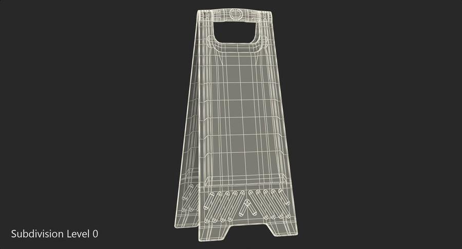 Sinal de piso molhado cuidado royalty-free 3d model - Preview no. 7