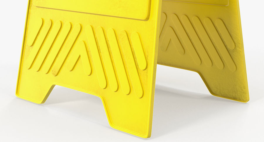 Sinal de piso molhado cuidado royalty-free 3d model - Preview no. 6