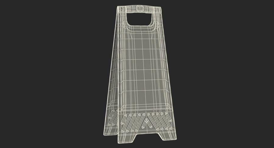 Sinal de piso molhado cuidado royalty-free 3d model - Preview no. 14