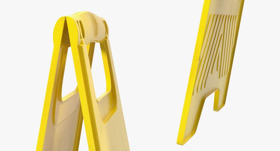 Sinal de piso molhado cuidado royalty-free 3d model - Preview no. 5