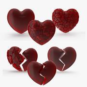 Colección de corazones modelo 3d