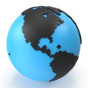 世界地図デジタルダイヤモンド 3d model