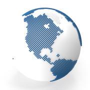world map spheres 3d model