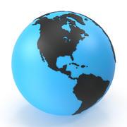 世界地図の小さなダイヤモンド 3d model