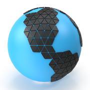 世界地球の三角形 3d model