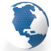 世界地図ミディアムダイヤモンド 3d model
