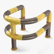 Rounded Metal Blocker 3d model