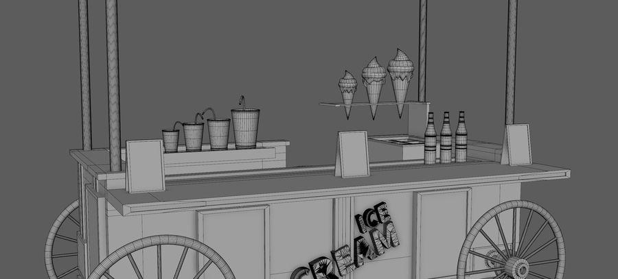 Ice Cream Wagon Cartoon royalty-free 3d model - Preview no. 11