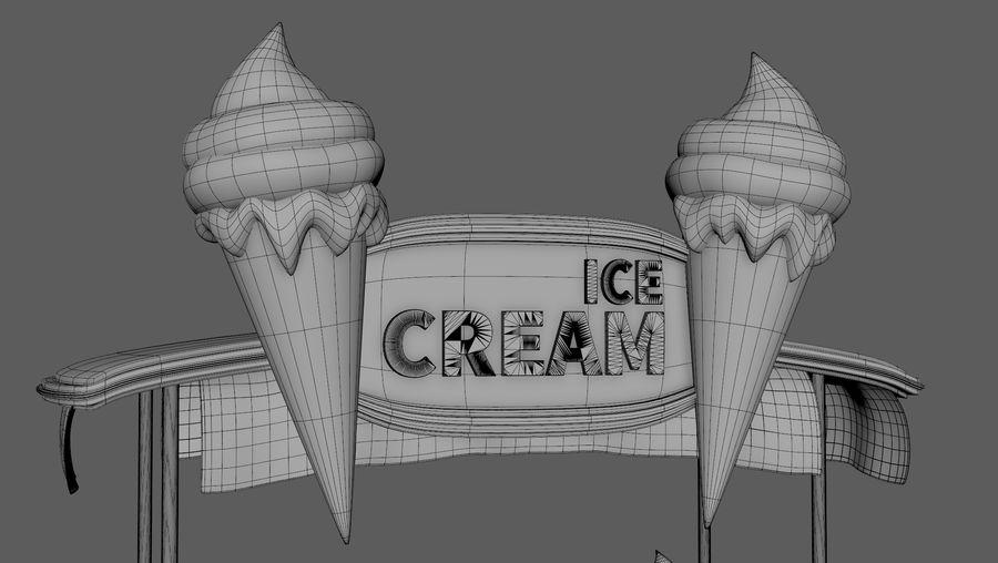 Ice Cream Wagon Cartoon royalty-free 3d model - Preview no. 15